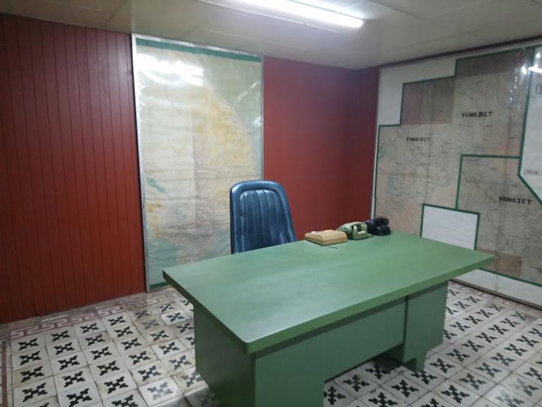 地下にある臨時大統領執務室